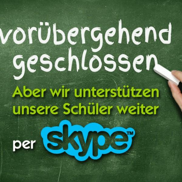 Wir unterstützen unsere Schüler weiter per Skype